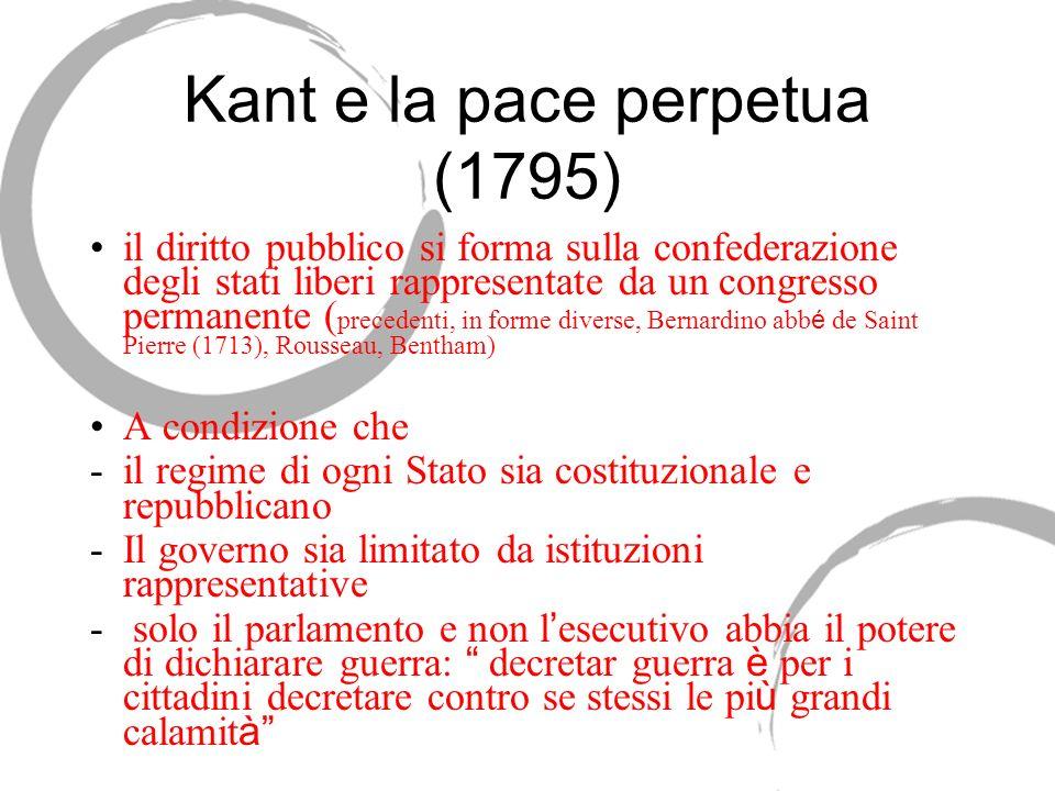 Kant e la pace perpetua (1795)