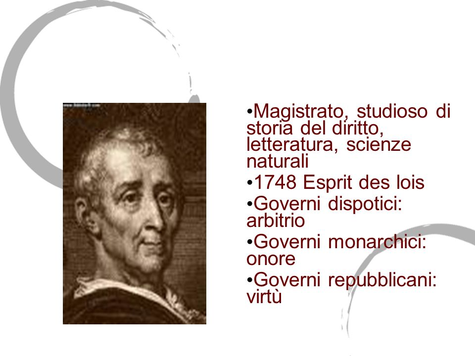 Charles de Secondat Barone di Montesquieu (1689-1755)
