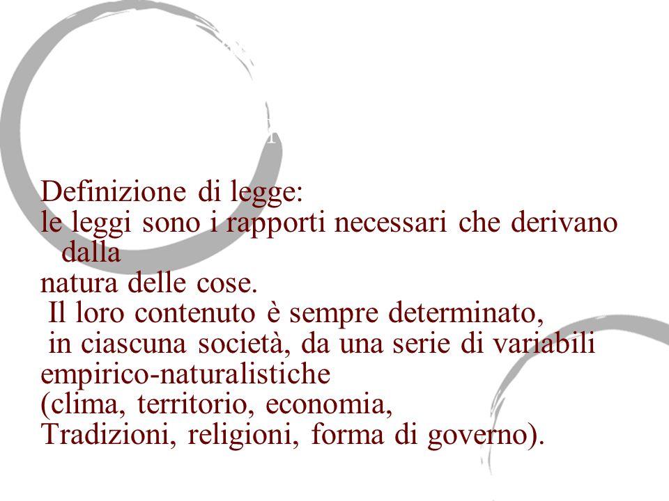 Giusnaturalismo empirico e relativismo storico del Montesquieu
