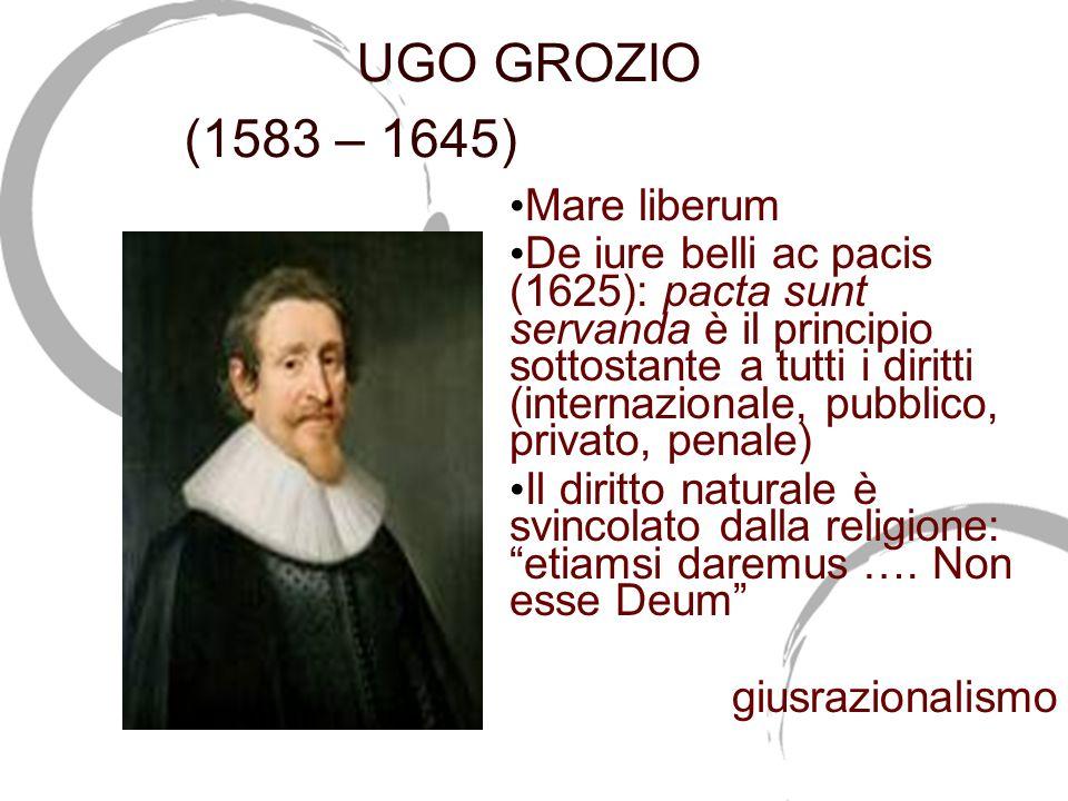 UGO GROZIO (1583 – 1645)(1583-1645) Mare liberum