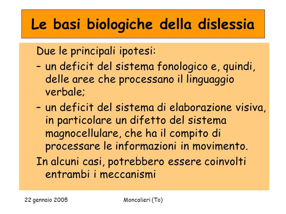 Le basi biologiche della dislessia