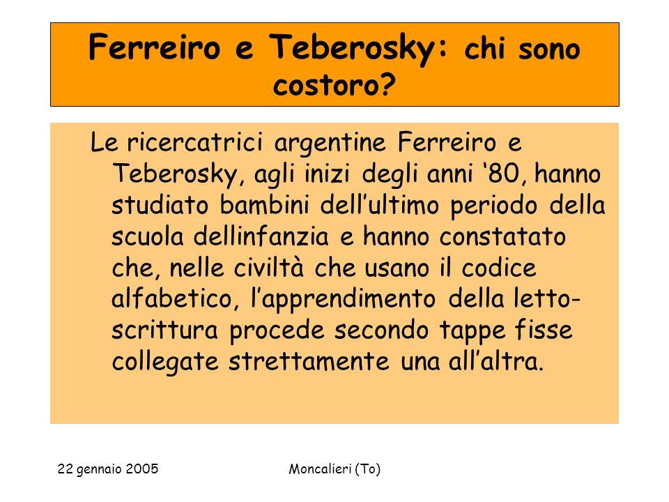 Ferreiro e Teberosky: chi sono costoro
