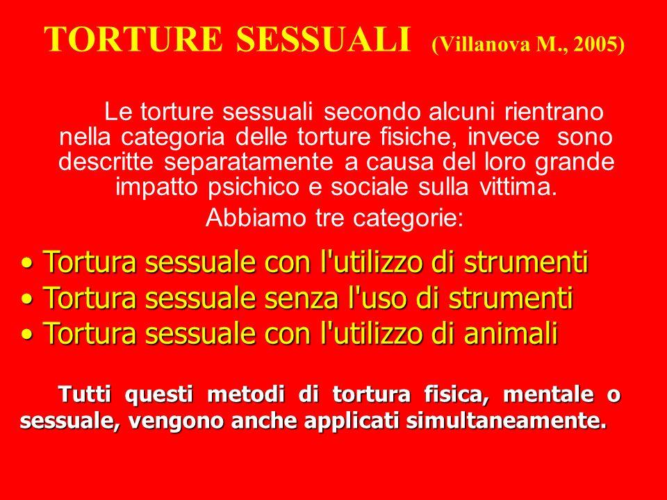 TORTURE SESSUALI (Villanova M., 2005)