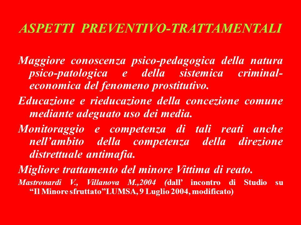 ASPETTI PREVENTIVO-TRATTAMENTALI