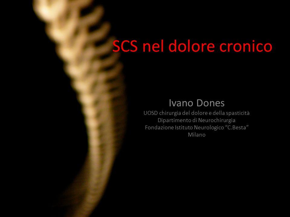 SCS nel dolore cronico Ivano Dones