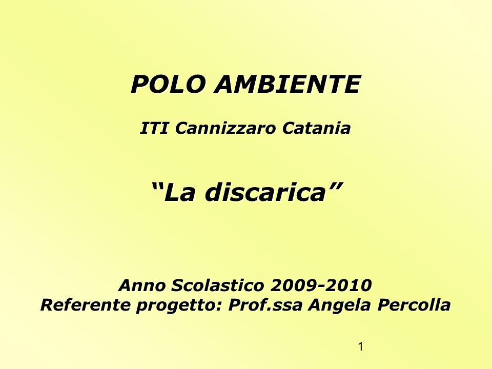 ITI Cannizzaro Catania Referente progetto: Prof.ssa Angela Percolla