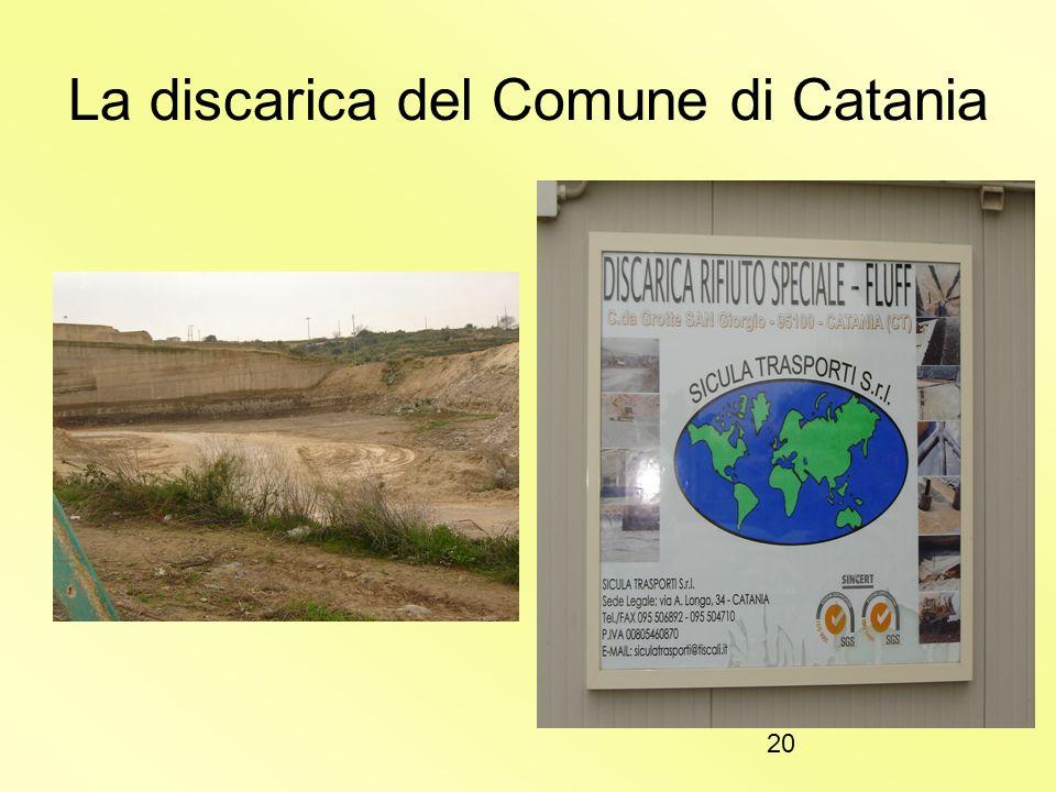La discarica del Comune di Catania