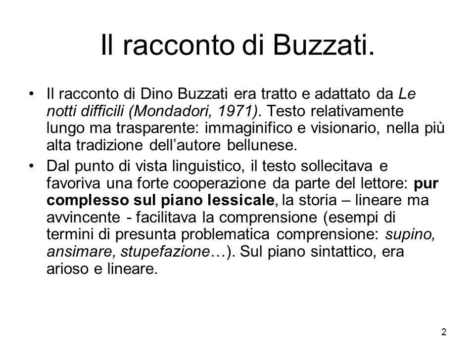 Il racconto di Buzzati.