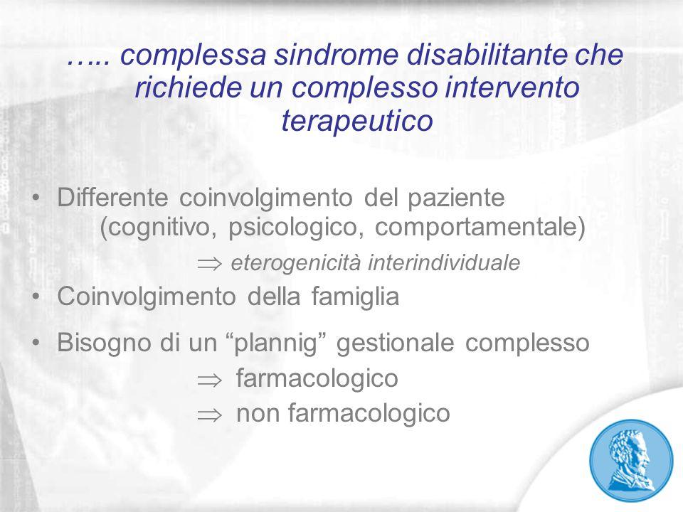 ….. complessa sindrome disabilitante che richiede un complesso intervento terapeutico