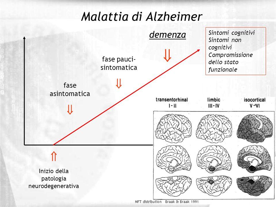  Malattia di Alzheimer    demenza fase pauci- sintomatica