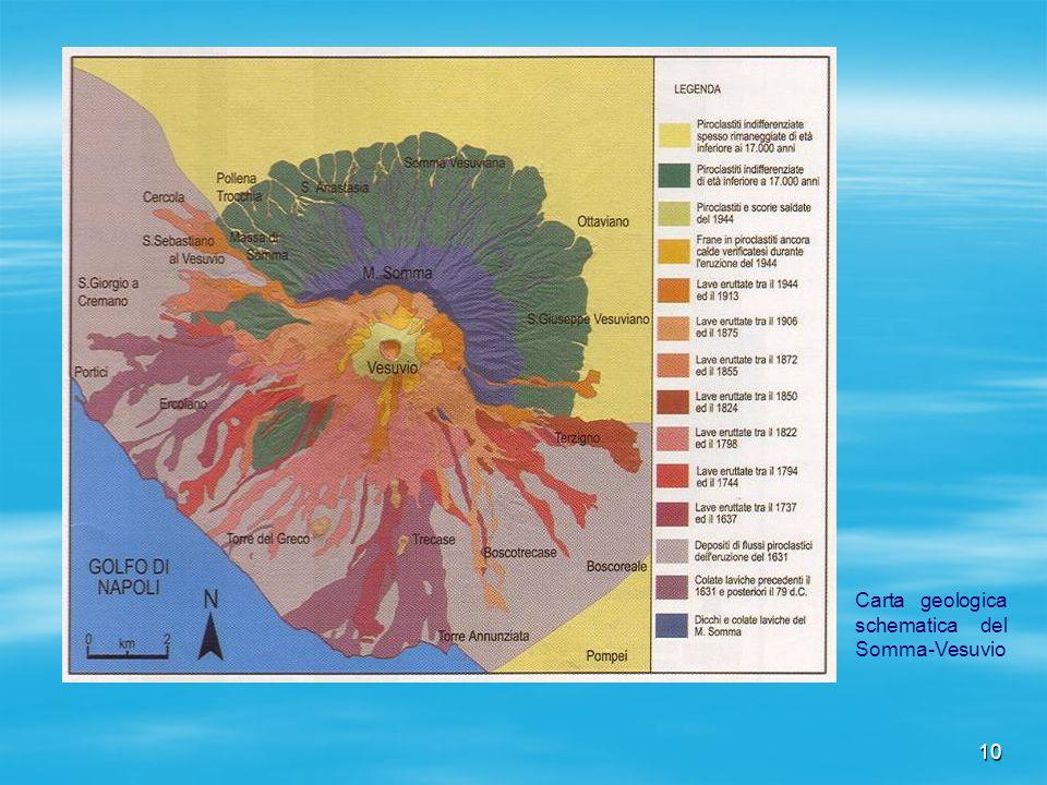 Carta geologica schematica del Somma-Vesuvio