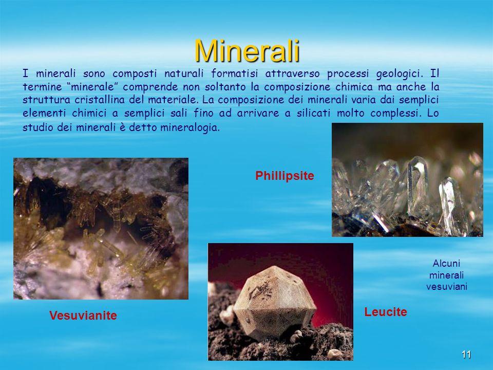 Alcuni minerali vesuviani