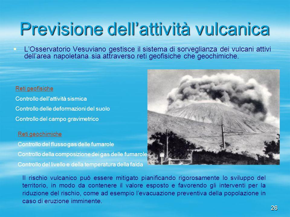 Previsione dell'attività vulcanica