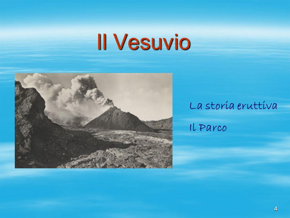 Il Vesuvio La storia eruttiva Il Parco