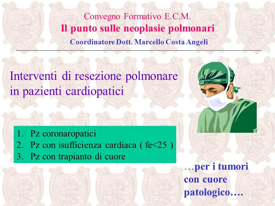 Interventi di resezione polmonare in pazienti cardiopatici