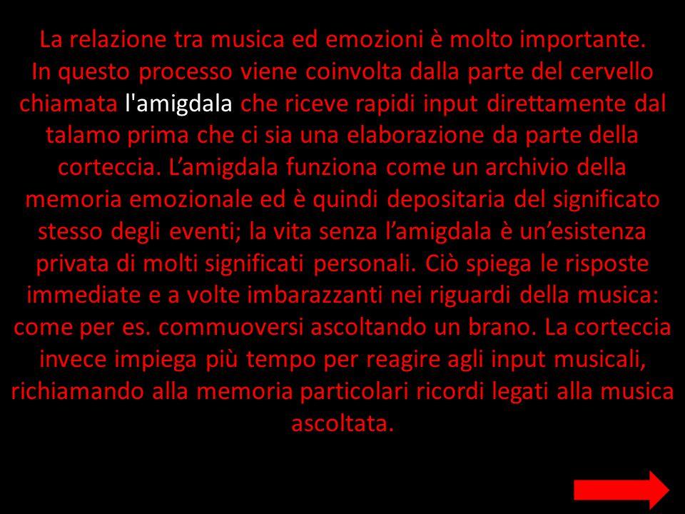 La relazione tra musica ed emozioni è molto importante.
