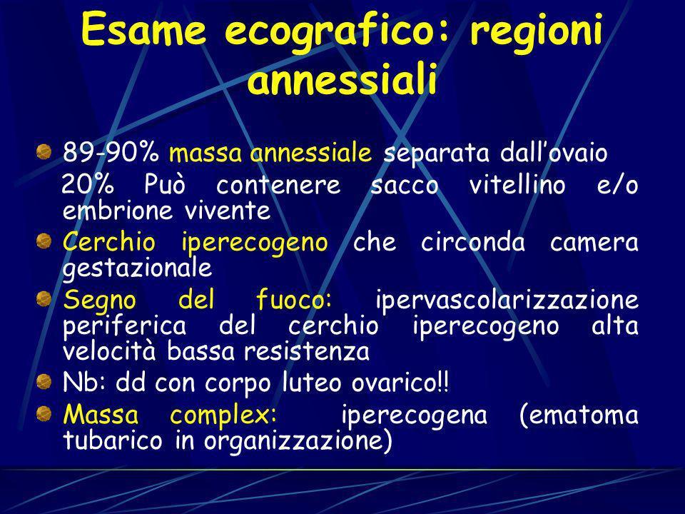 Esame ecografico: regioni annessiali