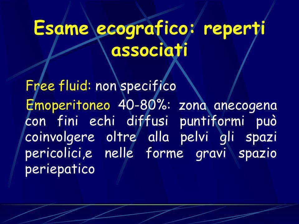 Esame ecografico: reperti associati