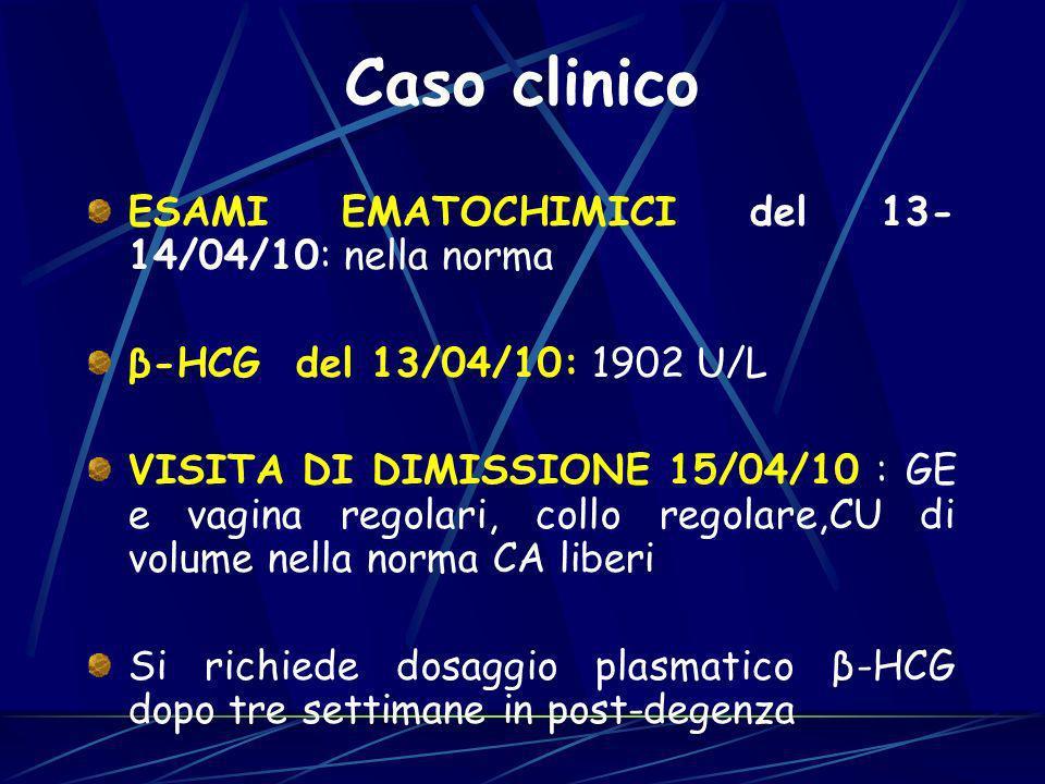 Caso clinico ESAMI EMATOCHIMICI del 13-14/04/10: nella norma