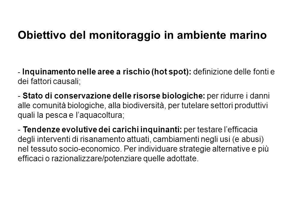 Obiettivo del monitoraggio in ambiente marino