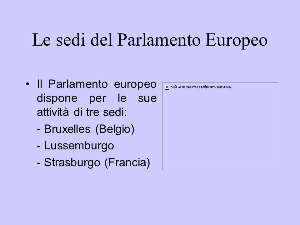 Le sedi del Parlamento Europeo