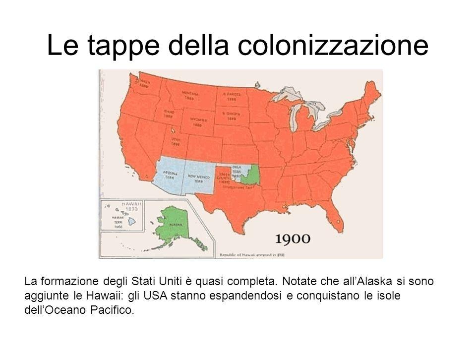 Le tappe della colonizzazione