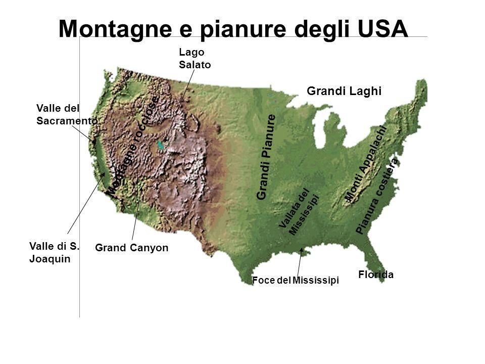 Montagne e pianure degli USA