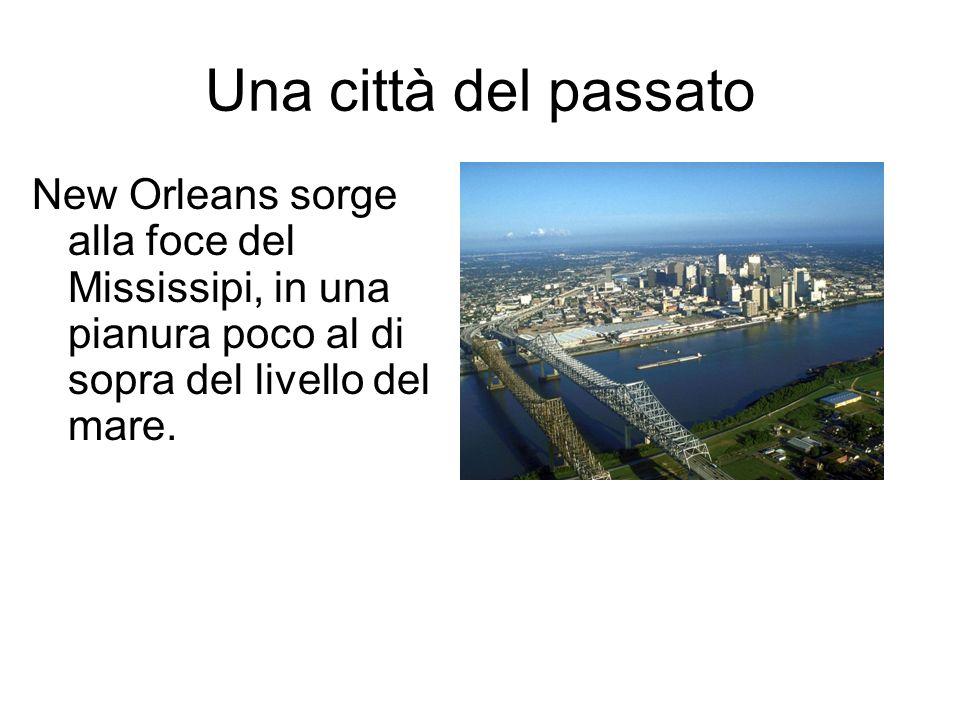 Una città del passato New Orleans sorge alla foce del Mississipi, in una pianura poco al di sopra del livello del mare.