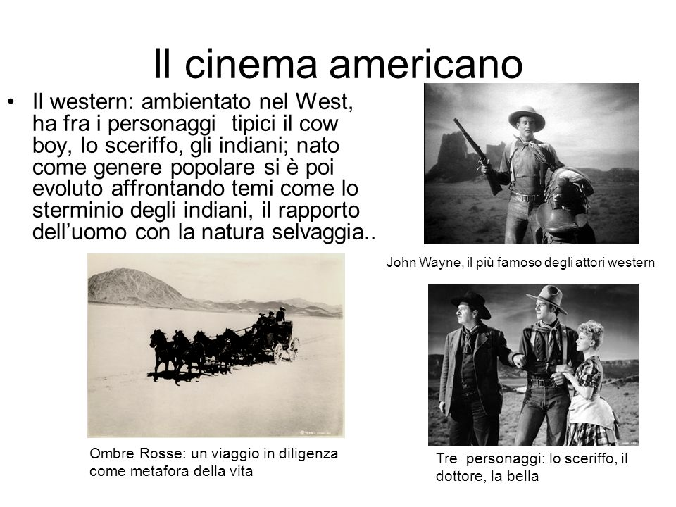 Il cinema americano