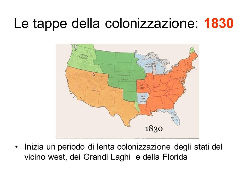 Le tappe della colonizzazione: 1830