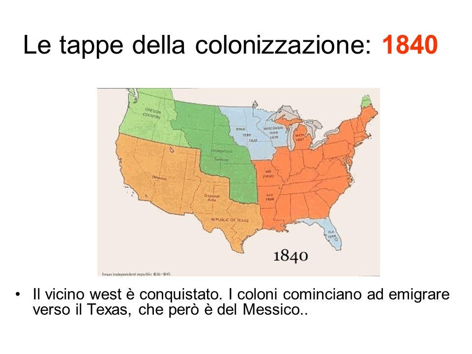 Le tappe della colonizzazione: 1840