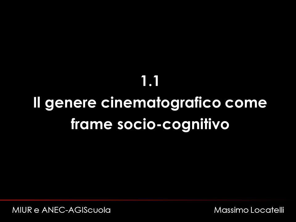 Il genere cinematografico come frame socio-cognitivo