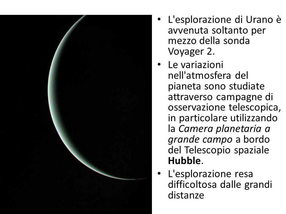 L esplorazione di Urano è avvenuta soltanto per mezzo della sonda Voyager 2.