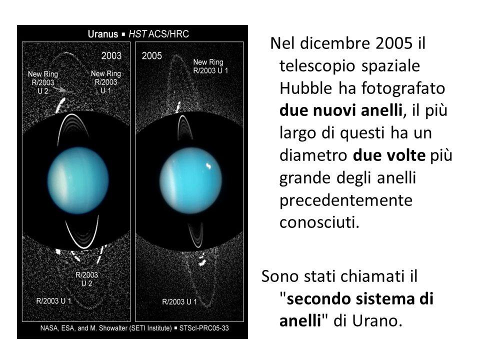 Nel dicembre 2005 il telescopio spaziale Hubble ha fotografato due nuovi anelli, il più largo di questi ha un diametro due volte più grande degli anelli precedentemente conosciuti.