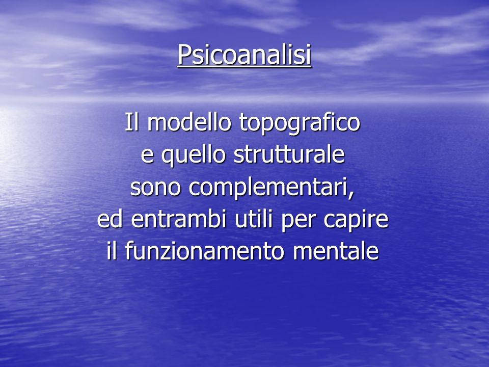 Psicoanalisi Il modello topografico e quello strutturale