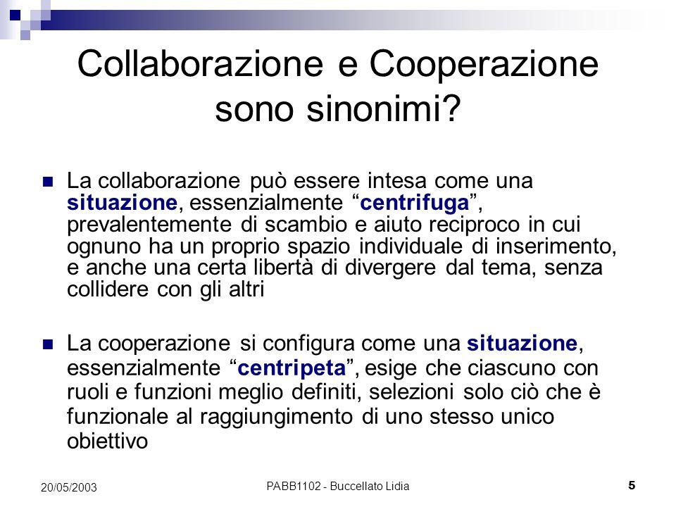 Collaborazione e Cooperazione sono sinonimi