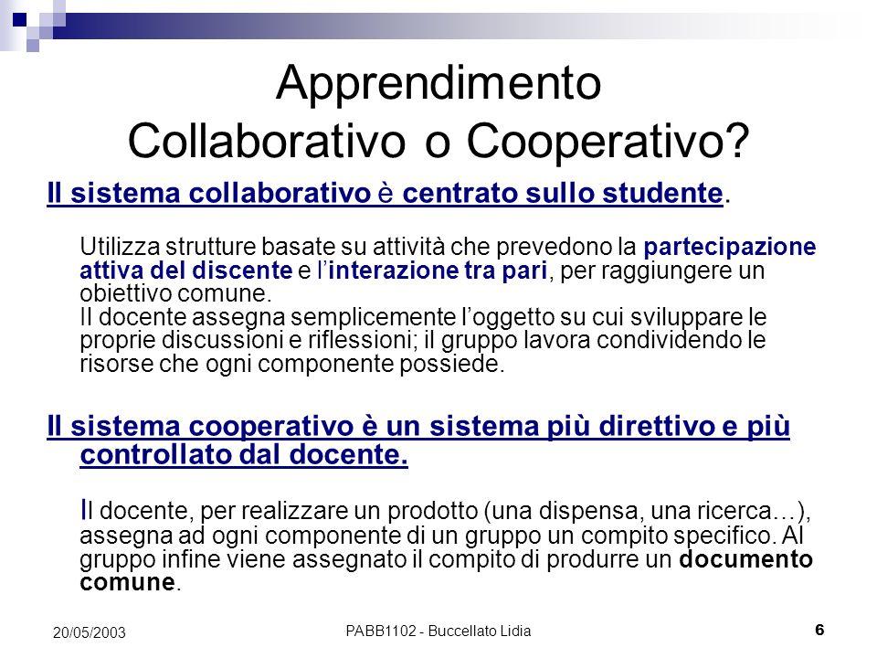 Apprendimento Collaborativo o Cooperativo