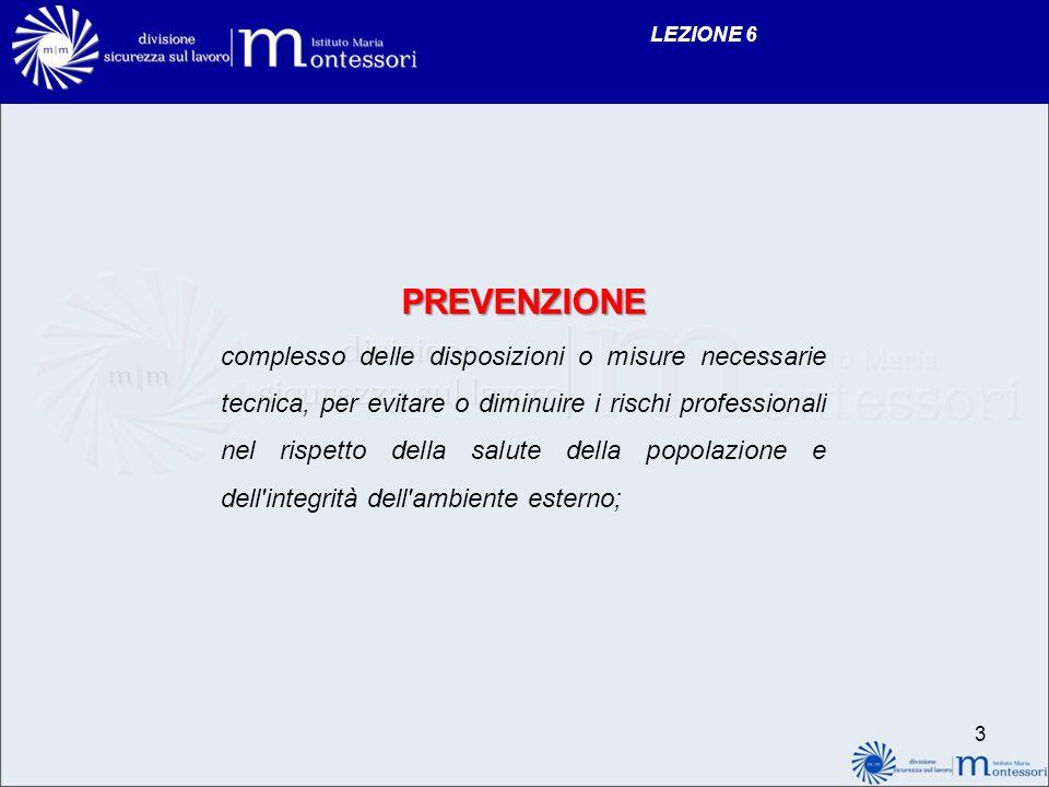 LEZIONE 6 PREVENZIONE.