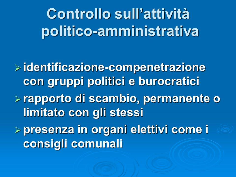 Controllo sull'attività politico-amministrativa