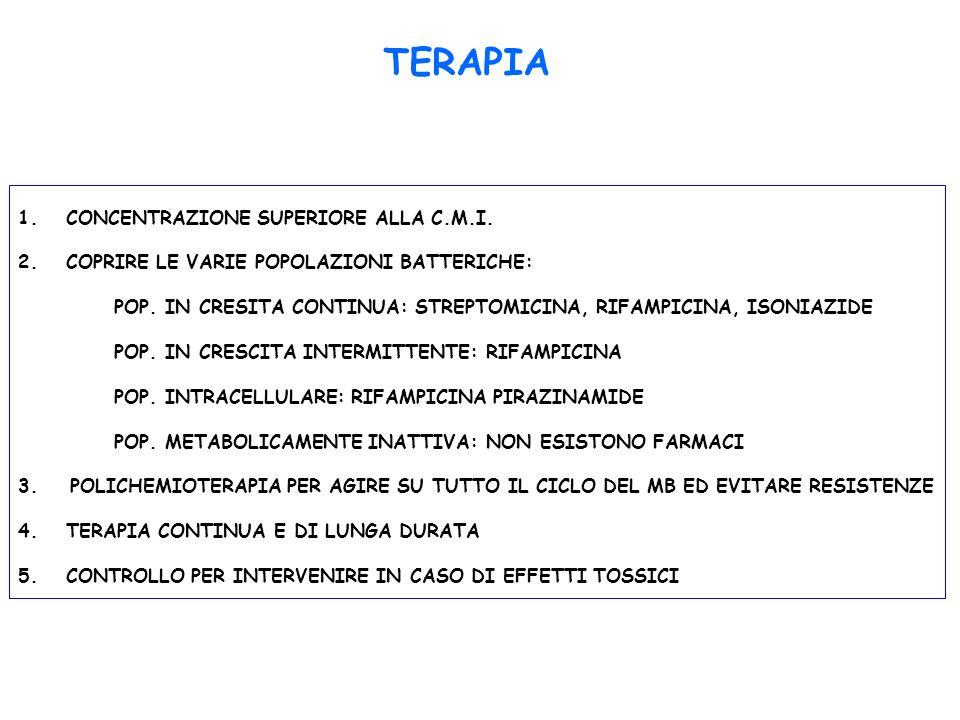 TERAPIA CONCENTRAZIONE SUPERIORE ALLA C.M.I.