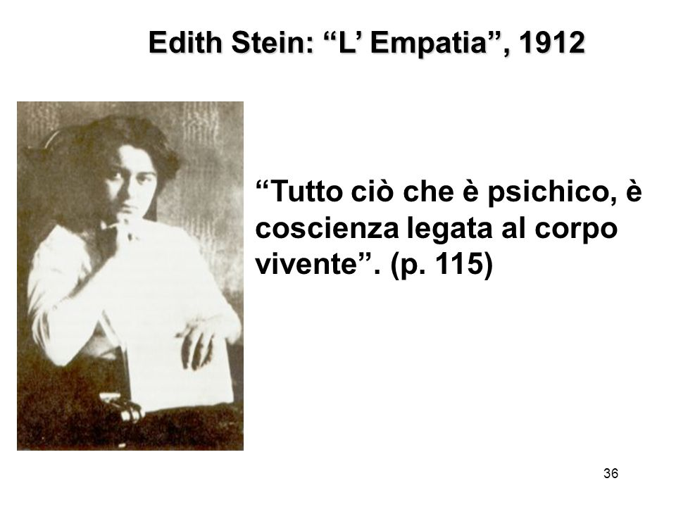 Edith Stein: L' Empatia , 1912
