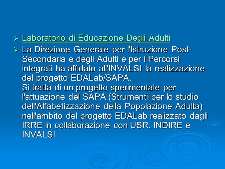 Laboratorio di Educazione Degli Adulti