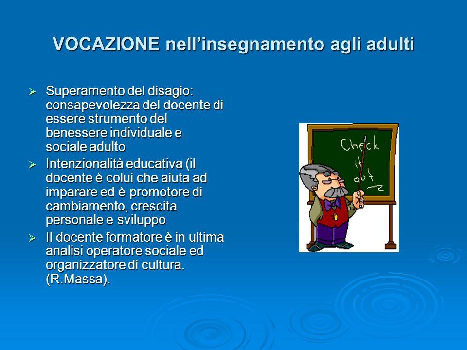 VOCAZIONE nell'insegnamento agli adulti