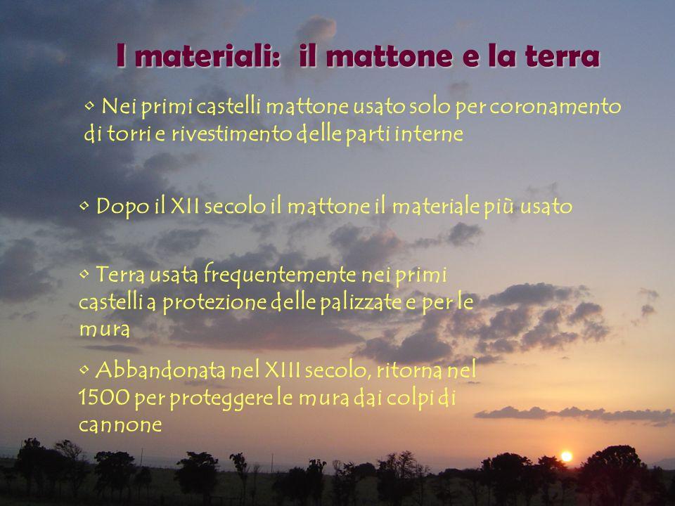 I materiali: il mattone e la terra