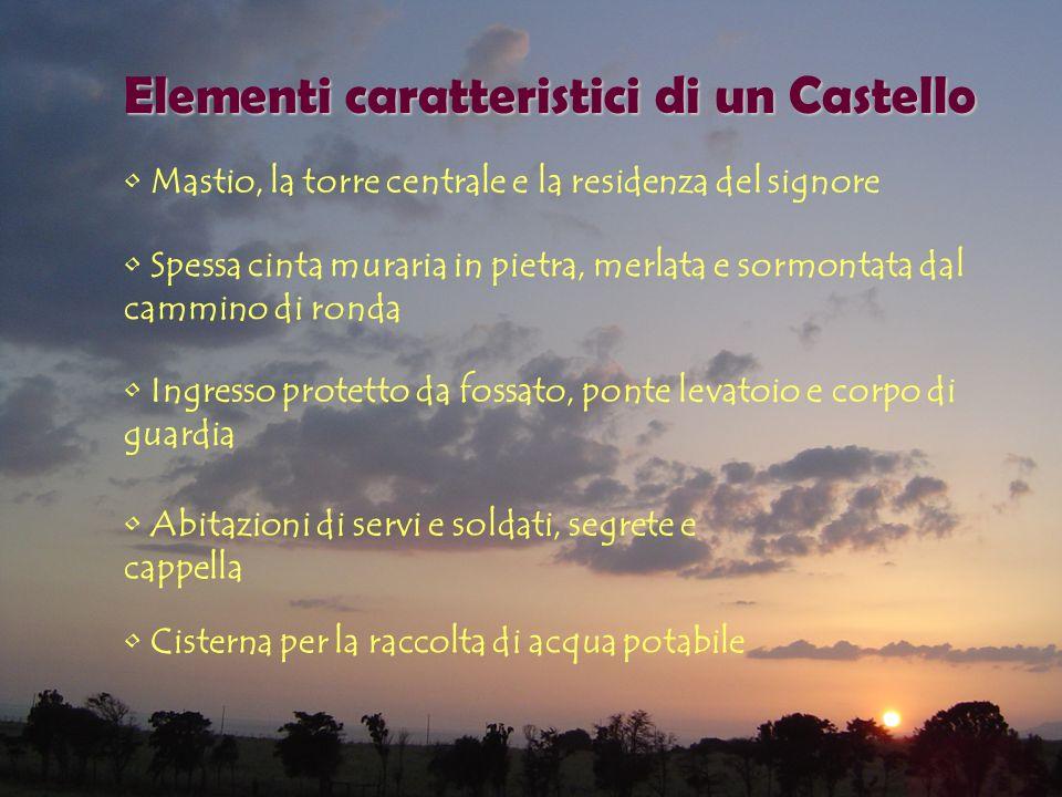 Elementi caratteristici di un Castello