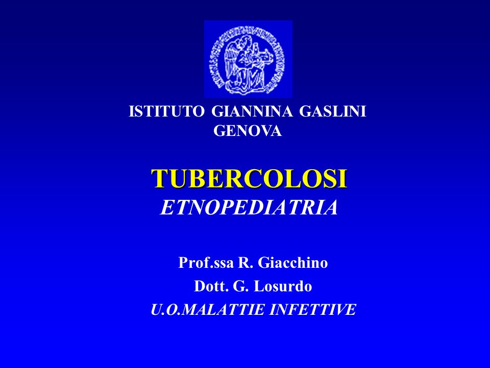 TUBERCOLOSI ETNOPEDIATRIA