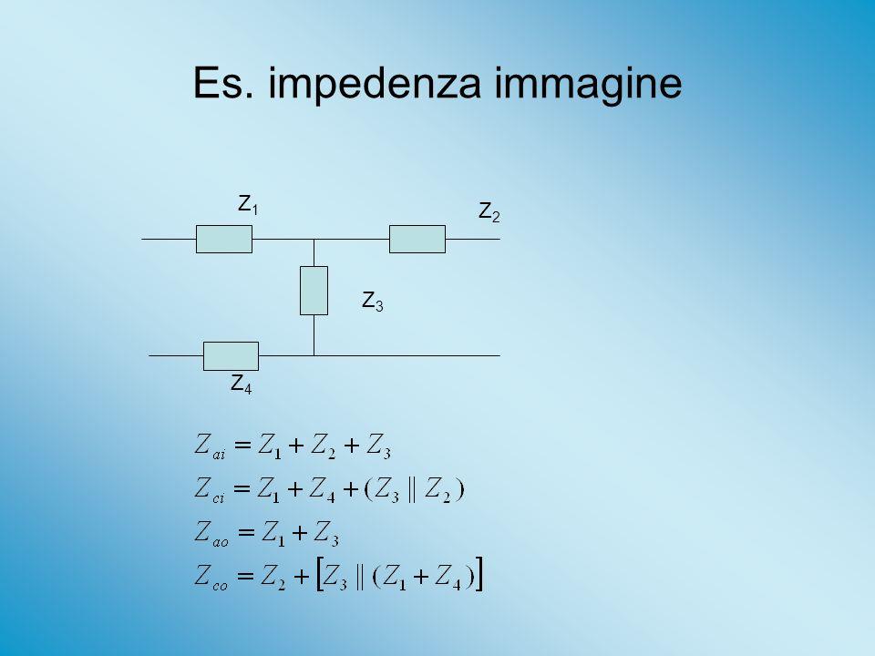 Es. impedenza immagine Z1 Z2 Z3 Z4