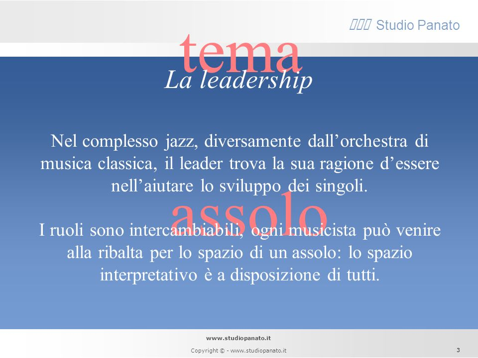 tema assolo La leadership