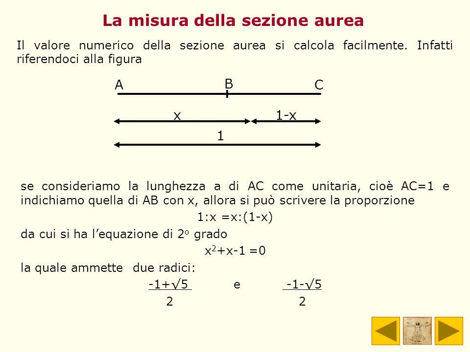 La misura della sezione aurea