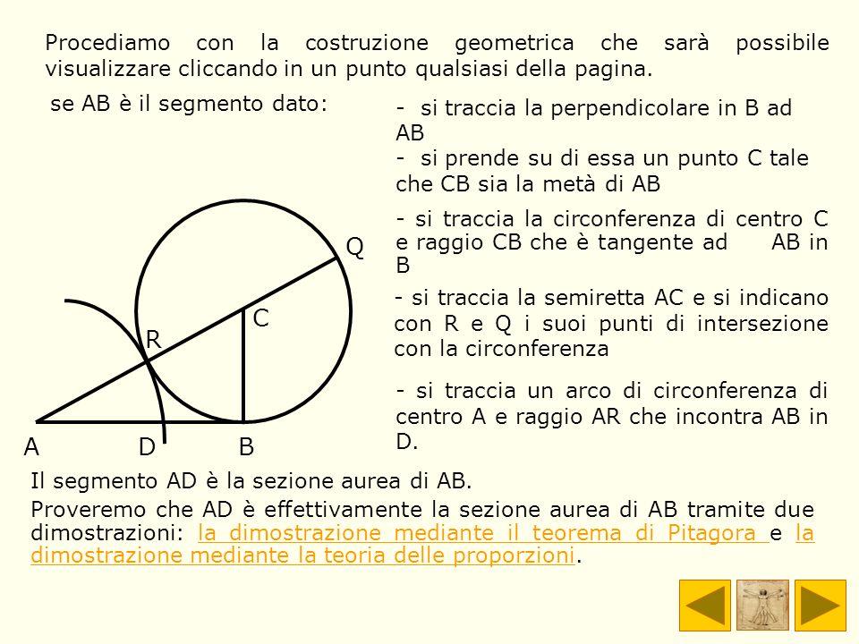 Procediamo con la costruzione geometrica che sarà possibile visualizzare cliccando in un punto qualsiasi della pagina.